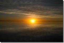 Couché de soleil sur le Salar