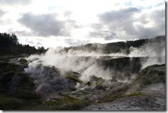 Fumerolles du cratere de la lune. Taupo