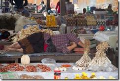 Scene du marché de Muang Sing